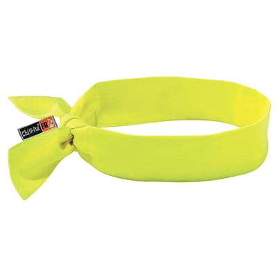 Ergodyne® Chill-Its® 6700 Evaporative Flame Resistance Cooling Bandana, Lime, 6/Pack