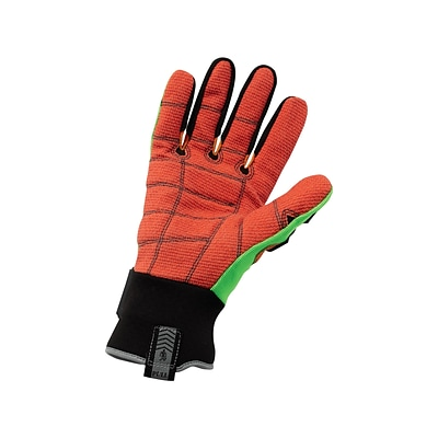 Ergodyne® ProFlex® Kevlar® Cut Puncture and Dorsal Impact-Reducing Gloves, Lime/Orange, Small, Pair