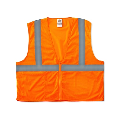 Ergodyne GloWear® 8210Z Class 2 Economy Vest, L/XL, Orange