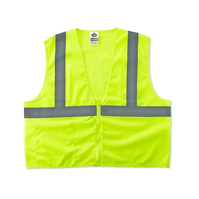 Ergodyne GloWear® 8210Z Class 2 Economy Vest, Small/Medium, Lime