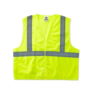 Ergodyne® GloWear® 8225HL Class 2 Hi-Visibility Standard Vest, Lime, Small/Medium