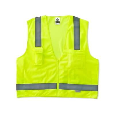 Ergodyne GloWear® 8250Z Class 2 Surveyors Vest, Large/XL, Lime