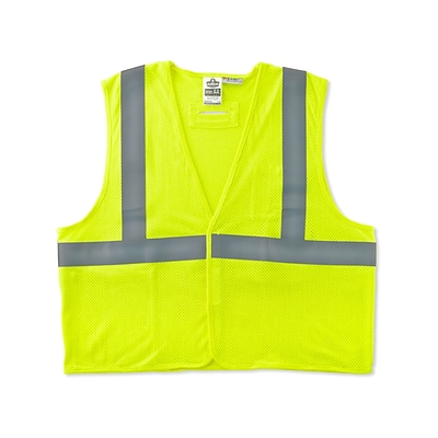 Ergodyne GloWear® 8255HL Class 2 Treated Poly Vest, 2XL/3XL, Lime