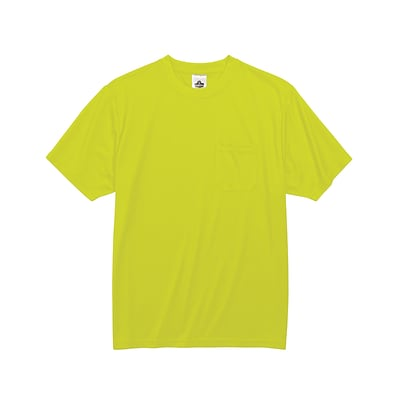 Ergodyne® GloWear® 8089 Non-Certified Hi-Visibility Safety T-Shirt, Lime, Medium