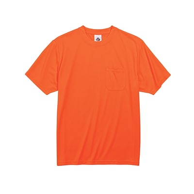 Ergodyne® GloWear® 8089 Non-Certified Hi-Visibility Safety T-Shirt, Orange, 3XL