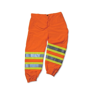 Ergodyne® GloWear® 8911 Class E Two-Tone Pant, Orange, 4XL/5XL
