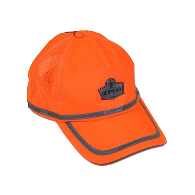 Ergodyne® GloWear® 8930 Class Headwear Hi-Visibility Baseball Cap, Orange, One Size