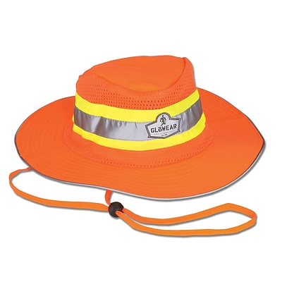 Ergodyne GloWear® 8935 Class Headwear, Hi-Vis Ranger Hat, Large/XL, Orange