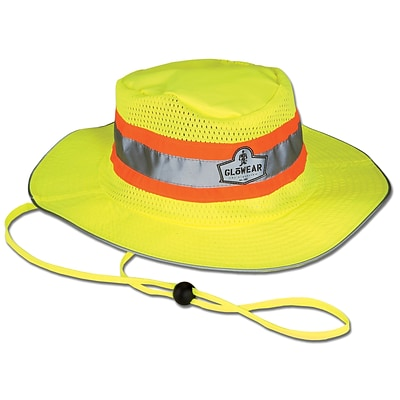 Ergodyne GloWear® 8935 Class Headwear Hi-Vis Ranger Hat, Small/Medium, Lime