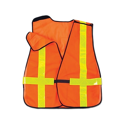 Ergodyne® GloWear® 8080BAX Non-Certified Hi-Visibility X-Back Vest, Orange, One Size