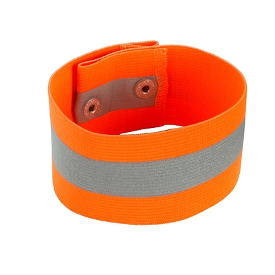 Ergodyne® GloWear® 8001 Hi-Visibility Arm/Leg Band, Orange, Small/Medium, 12/Pack