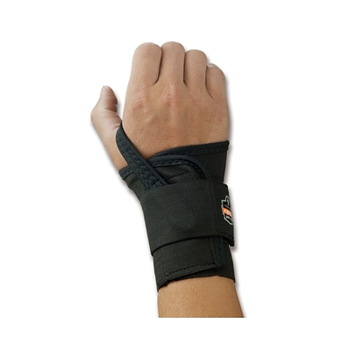 Ergodyne ProFlex® 4000 Single Strap Right Wrist Support, Medium, Black