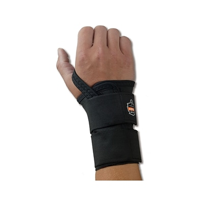 Ergodyne ProFlex 4010 Elastic Wrist Support with Double Strap, Large (70036)