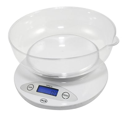 American Weigh Scales 5KBOWL Digital Kitchen Bowl Scale; White