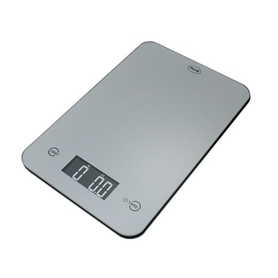 American Weigh Scales ONYX Ultra Slim Digital Kitchen Scale; Silver