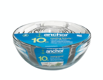 Anchor Hocking(r) 10 Piece Mixing Bowl PK