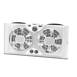 Jarden Home Environment Holmes™ 9 Twin Window Fan With Manual Thermostat, White