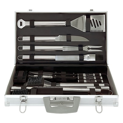 Mr. Bar-B-Q® Stainless Steel Tool Set With Aluminum Case; 30 Pieces/Set