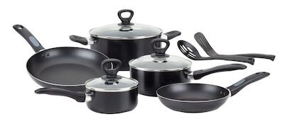 T Fal(r) 10 Pc Mirro Get A Grip Cookware Set