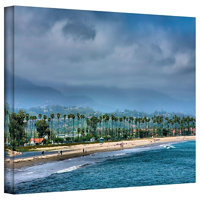 ArtWall The Beach at Santa Barbara Gallery Wrapped Canvas Art By Steve Ainsworth, 36 x 48