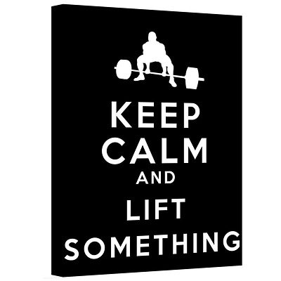 ArtWall Keep Calm and Lift Something Gallery Wrapped Canvas Art By Art D. Signer, 36 x 48