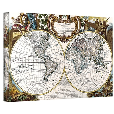 ArtWall Antique World Map Circa 1499 Gallery Wrapped Canvas Art, 32 x 48