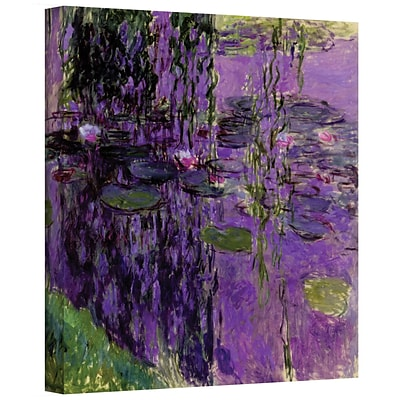ArtWall Lavender Water Lillies Gallery Wrapped Canvas Art By Claude Monet, 14 x 18