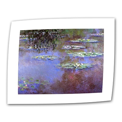 ArtWall Sea Roses II Flat/Rolled Canvas Art By Claude Monet, 18 x 24