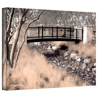 ArtWall Bridge Over Wash Gallery Wrapped Canvas Art By Linda Parker, 12 x 18