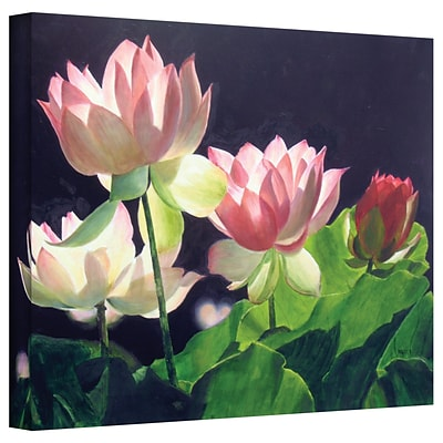 ArtWall Andreas Lilies Gallery Wrapped Canvas Art By Marina Petro, 18 x 24