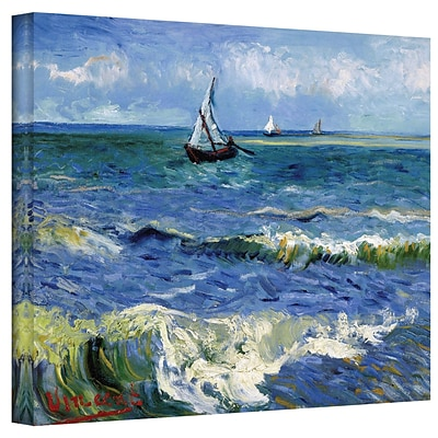 ArtWall Seascape at Saintes... Gallery Wrapped Canvas Art By Vincent Van Gogh, 36 x 48
