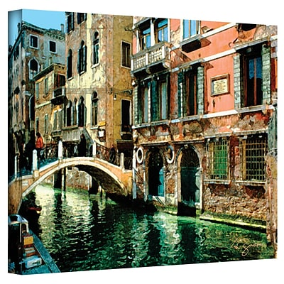 ArtWall Venice Canal Gallery Wrapped Canvas Art By George Zucconi, 36 x 48