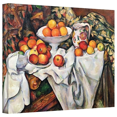 ArtWall Apples and Oranges Gallery Wrapped Canvas Art By Paul Cezanne, 36 x 48