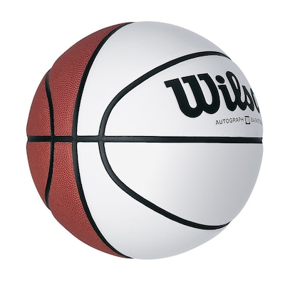 Wilson® Autograph Basketball With Smooth White Panels, 29 1/2""