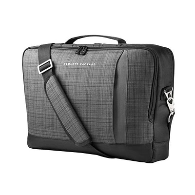 HP® 15.6 Slim Ultrabook Top Load Carrying Case; Black/Gray
