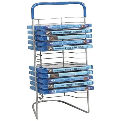 Atlantic® Nestable DVD Wire Rack For Up to 16 Blu-Ray/DVDs