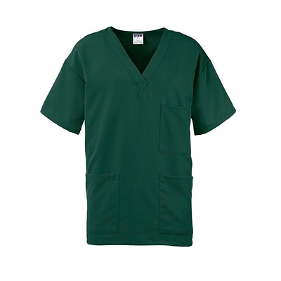 Madison AVE™ Unisex Scrub Top With 3 Pockets, Hunter Green, Medium