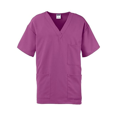 Madison AVE.™ Unisex Scrub Top With 3 Pockets, Purple, 4XL