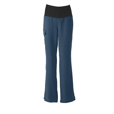 Medline Ocean ave Women 3XL Petite Yoga Scrub Pants, Caribbean Blue (5560CRBXXXLP)