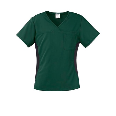 Michigan AVE™ Yoga Scrub Top, Hunter Green, XS