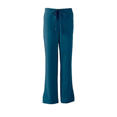 Medline Melrose ave Women Large Tall Petite Scrub Pants, Caribbean Blue (5580CRBLT)