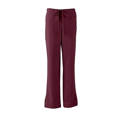 Melrose AVE™ Combo Elastic Waist Ladies Scrub Pant, Wine, Large