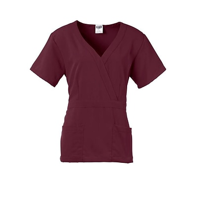 Medline Park ave Women 2XS Scrub Top, Wine (5587WNEXXS)