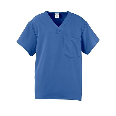Fifth AVE.™ Unisex Traditional Scrub Top With One Pocket, Ceil Blue, 3XL