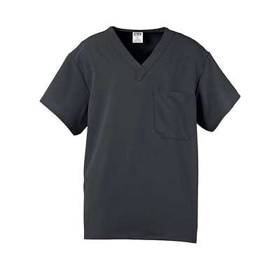 Fifth AVE.™ Unisex Scrub Top, Charcoal, 4XL