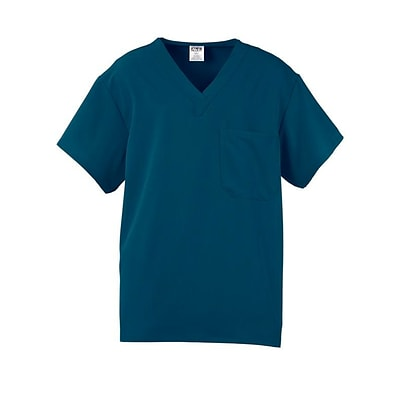Fifth AVE.™ Unisex Scrub Top, Caribbean Blue, Small