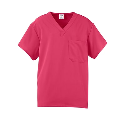 Fifth AVE.™ Unisex Scrub Top, Pink, XS