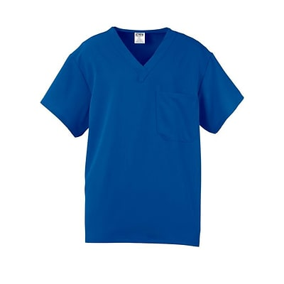 Fifth AVE.™ Unisex Scrub Top, Royal Blue, 4XL