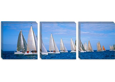 iCanvas Panoramic Yachts in the Ocean Key West, Florida Photographic Print on Canvas