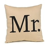 HBH™ Tan Mr. Throw Pillow